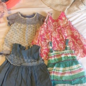 Lot of 4 babygirl dresses